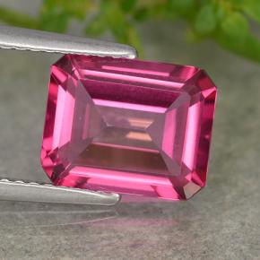 Purplish Pink Mystic Topaz Gem - 3.3ct Octagon Step Cut (ID: 489658)