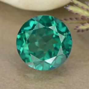 1.7ct Round Facet Blue-Green Mystic Topaz Gem (ID: 489957)