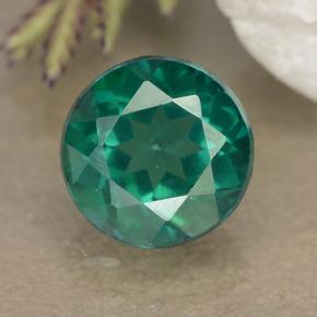 1.6ct Round Facet Blue-Green Mystic Topaz Gem (ID: 489970)