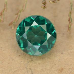 thumb image of 1.6ct Round Facet Blue-Green Mystic Topaz (ID: 490059)