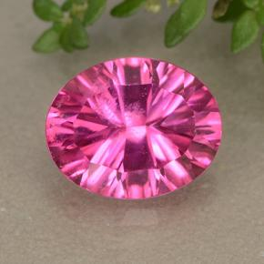 thumb image of 3.1ct Oval Concave Cut Purplish Pink Mystic Topaz (ID: 492685)