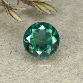 2.4ct Round Facet Blue-Green Mystic Topaz Gem (ID: 492811)