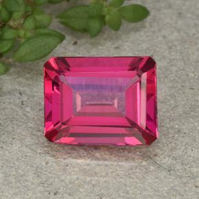 Purplish Pink Mystic Topaz Gem - 3.7ct Octagon Step Cut (ID: 492821)