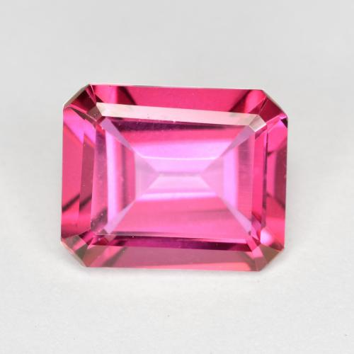 Purplish Pink Mystic Topaz Gem - 3.3ct Octagon Step Cut (ID: 492823)