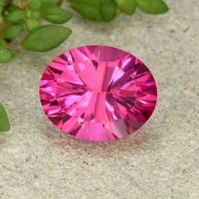 thumb image of 3.4ct Oval Concave Cut Purplish Pink Mystic Topaz (ID: 493046)