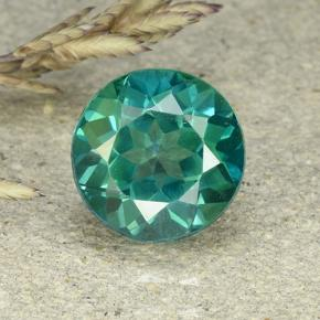 2.4ct Round Facet Blue-Green Mystic Topaz Gem (ID: 493148)