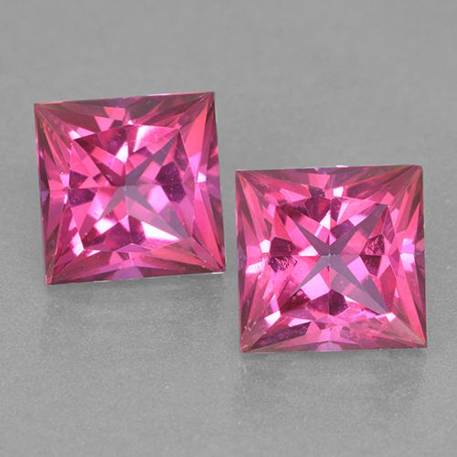 Deep Magenta Mystic Topaz Gem - 6.5ct Princess-Cut (ID: 499537)