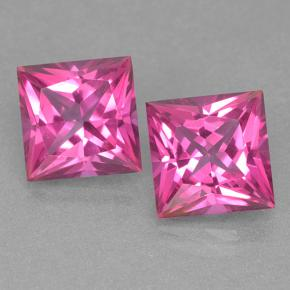 Purplish Pink Mystic Topaz Gem - 6.5ct Princess-Cut (ID: 499540)