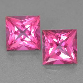 Purplish Pink Mystic Topaz Gem - 6.3ct Princess-Cut (ID: 499548)