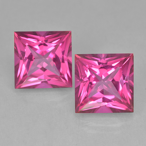 Purplish Pink Mystic Topaz Gem - 6.5ct Princess-Cut (ID: 499711)