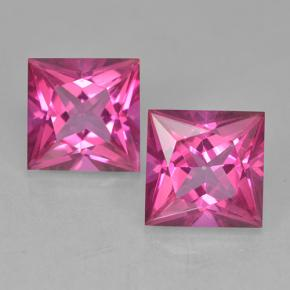 6.5ct Princess-Cut Purplish Pink Mystic Topaz Gem (ID: 499713)