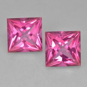 Purplish Pink Mystic Topaz Gem - 6.5ct Princess-Cut (ID: 499714)