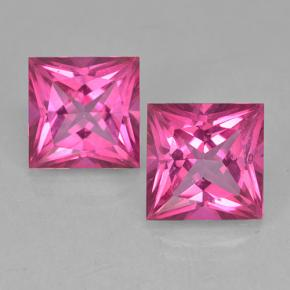 Purplish Pink Mystic Topaz Gem - 6.5ct Princess-Cut (ID: 499715)
