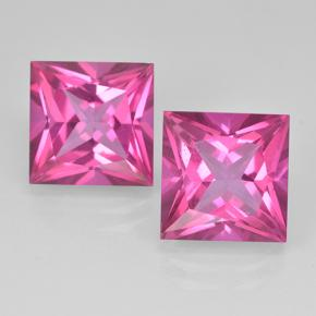 Purplish Pink Mystic Topaz Gem - 6.5ct Princess-Cut (ID: 500005)