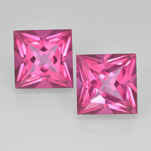 6.5ct Princess-Cut Purplish Pink Mystic Topaz Gem (ID: 500006)