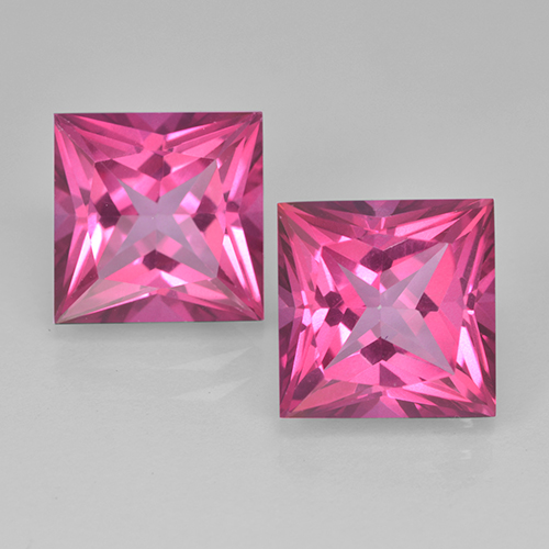 Purplish Pink Mystic Topaz Gem - 6.4ct Princess-Cut (ID: 500007)