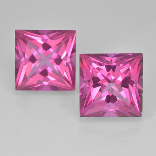 Purplish Pink Mystic Topaz Gem - 6.4ct Princess-Cut (ID: 500010)