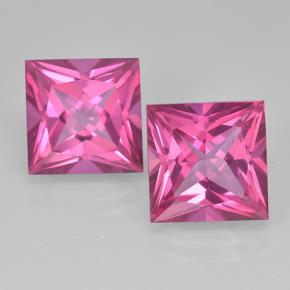 Purplish Pink Mystic Topaz Gem - 6.5ct Princess-Cut (ID: 500011)