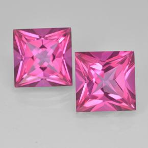 Purplish Pink Mystic Topaz Gem - 6.4ct Princess-Cut (ID: 500012)