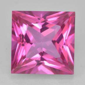 Purplish Pink Mystic Topaz Gem - 6.8ct Princess-Cut (ID: 500367)