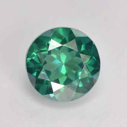 Teal Green Topaze Mystique gemme - 3.2ct Facette ronde (ID: 529392)