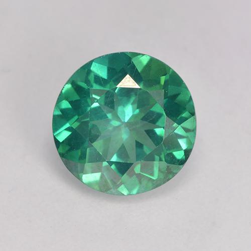 Teal Green Topacio Místico Gema - 3.5ct Faceta Redonda (ID: 529396)