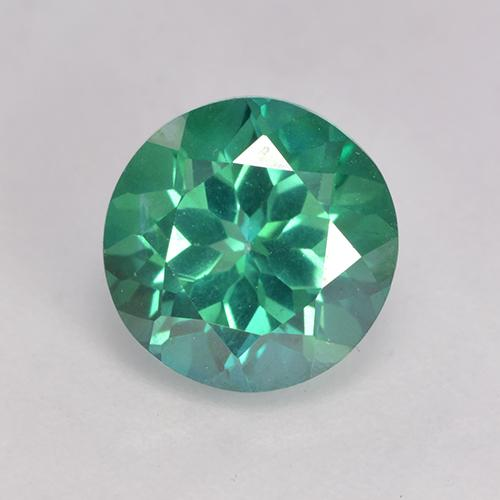Teal Green Topacio Místico Gema - 3.7ct Faceta Redonda (ID: 529397)