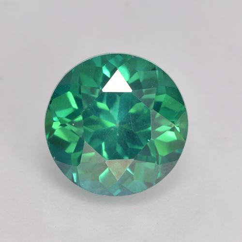 Teal Green Topaze Mystique gemme - 3ct Facette ronde (ID: 529400)