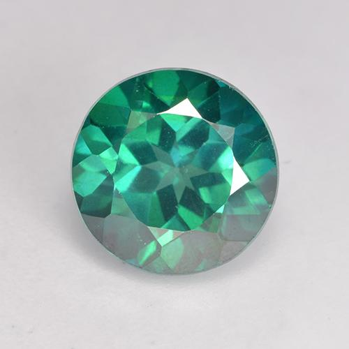 Teal Green Mystic Topaz Gem - 2.4ct Round Facet (ID: 529404)