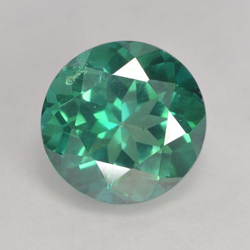 Teal Green Topacio Místico Gema - 3.3ct Faceta Redonda (ID: 529569)