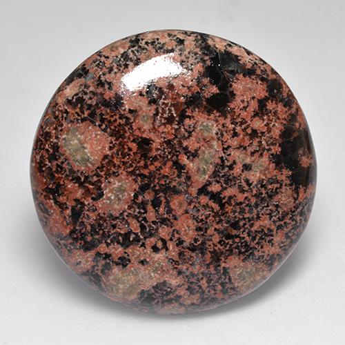 Multicolore Obsidienne gemme - 25.4ct Cabochon rond (ID: 522650)