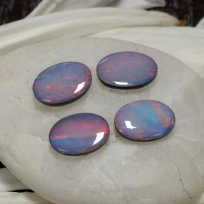 Multicolor Opal Doublet Gem - 0.6ct Oval Cabochon (ID: 294050)
