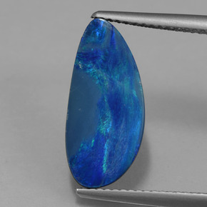 Blue Opal Doublet Gem - 3.9ct Fancy Cabochon (ID: 420714)