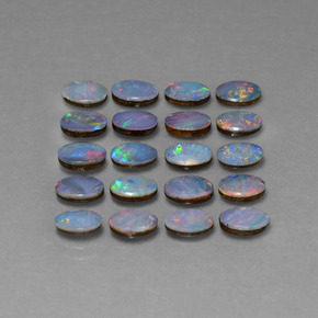 Multicolor Opal Doublet Gem - 0.4ct Oval Cabochon (ID: 446909)
