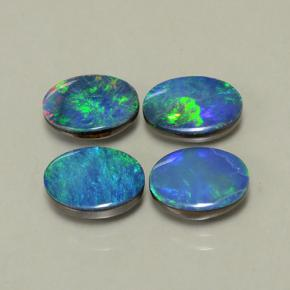 Multicolor Opal Doublet Gem - 1ct Oval Cabochon (ID: 503210)