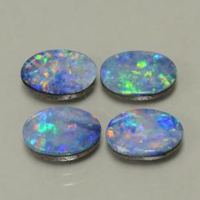 Multicolor Opal Doublet Gem - 0.9ct Oval Cabochon (ID: 503213)