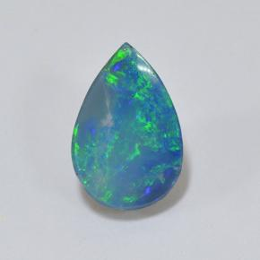 Multicolor Opal Doublet Gem - 1.5ct Pear Cabochon (ID: 503558)