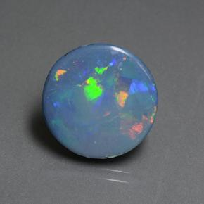 Multicolor Opal Doublet Gem - 5.8ct Round Cabochon (ID: 505381)