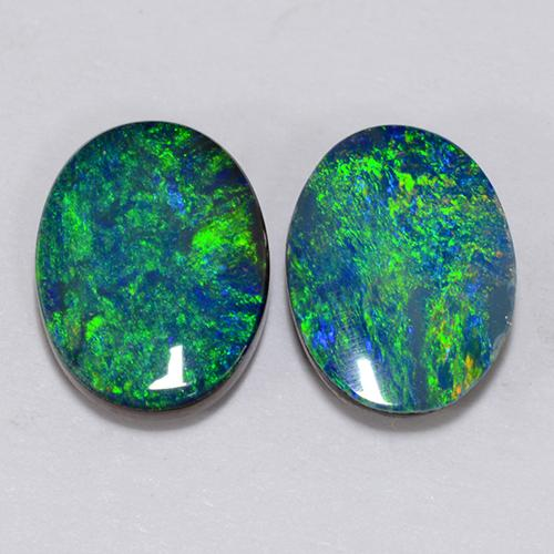 Multicolor Opal Doublet Gem - 0.9ct Oval Cabochon (ID: 510694)
