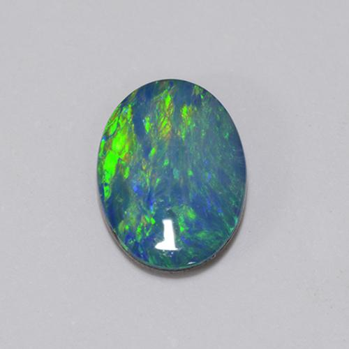Multicolor Opal Doublet Gem - 0.8ct Oval Cabochon (ID: 510702)