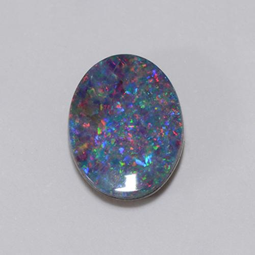 Multicolor Opal Doublet Gem - 1.1ct Oval Cabochon (ID: 510703)