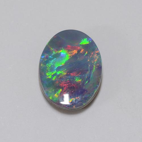 Multicolor Opal Doublet Gem - 1.1ct Oval Cabochon (ID: 510705)