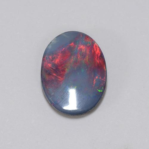 Multicolor Opal Doublet Gem - 0.8ct Oval Cabochon (ID: 510708)