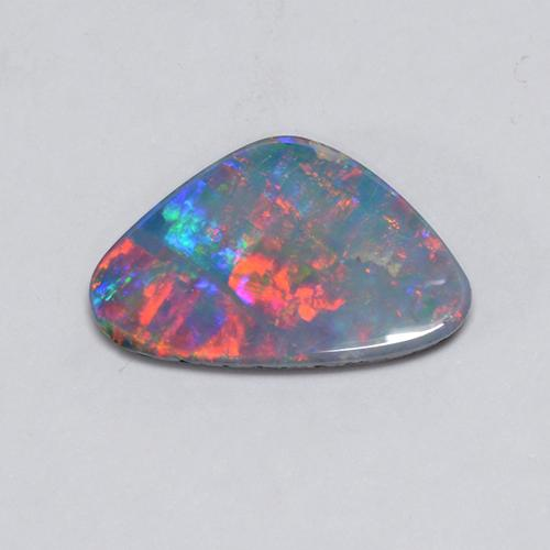 Multicolor Opal Doublet Gem - 1.6ct Trillion Cabochon (ID: 510739)