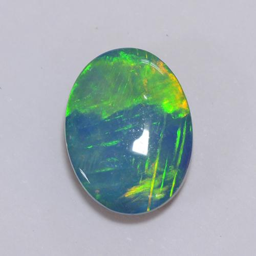 Multicolor Opal Doublet Gem - 1.1ct Oval Cabochon (ID: 511333)