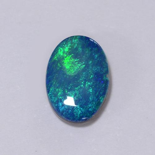 Multicolor Opal Doublet Gem - 0.7ct Oval Cabochon (ID: 511342)