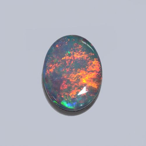 Multicolor Opal Doublet Gem - 1ct Oval Cabochon (ID: 511776)