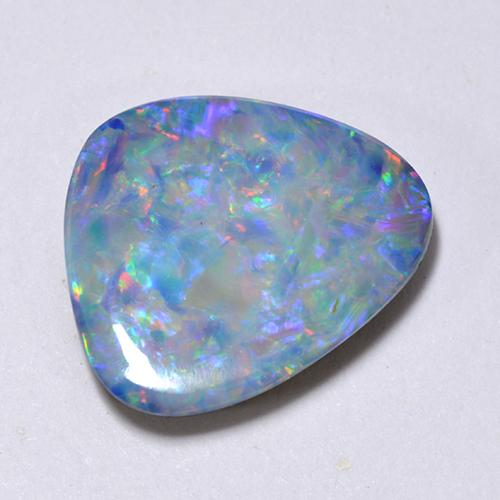 Multicolor Opal Doublet Gem - 3.2ct Fancy Cabochon (ID: 512404)