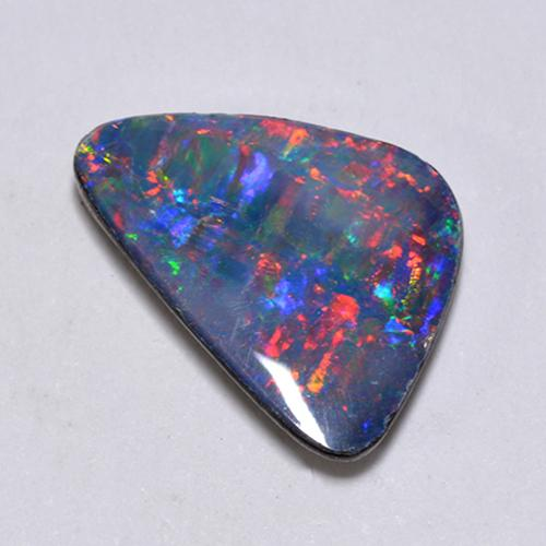 Multicolor Opal Doublet Gem - 1.9ct Fancy Cabochon (ID: 512406)