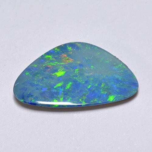 Multicolor Opal Doublet Gem - 3.8ct Fancy Cabochon (ID: 512409)